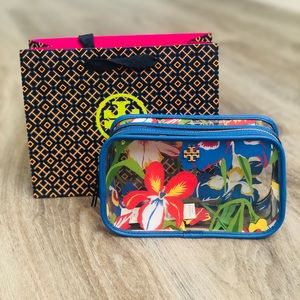 Tory Burch   Floral Cosmetic Case Painted Iris